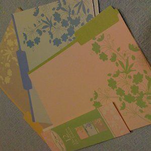 12 Decorative File Folders with Flowers
